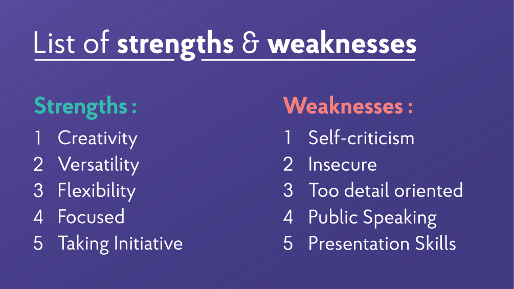 22+ Strengths and Weaknesses for Job Interviews [2020 Best Answers]