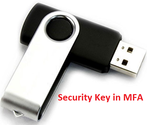 Security Key in MFA verification
