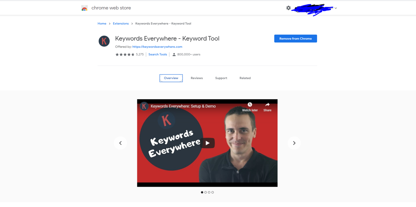 Digital Marketing: Keyword everywhere tool