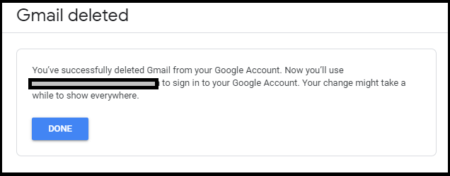 Gmail deleted