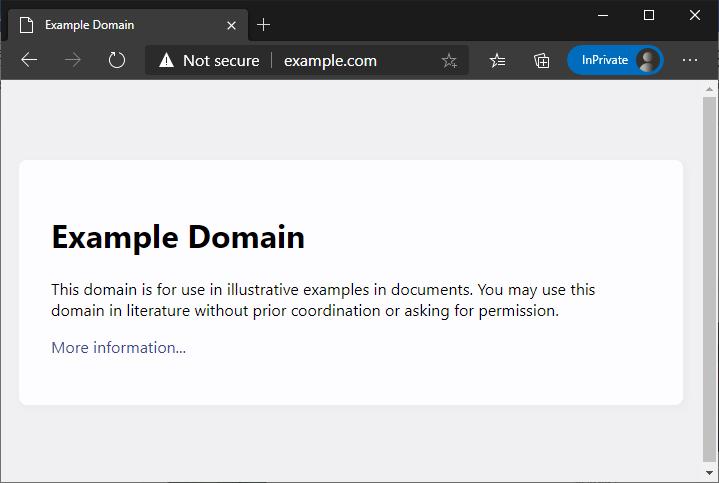 Example domain: HTTP vs HTTPs