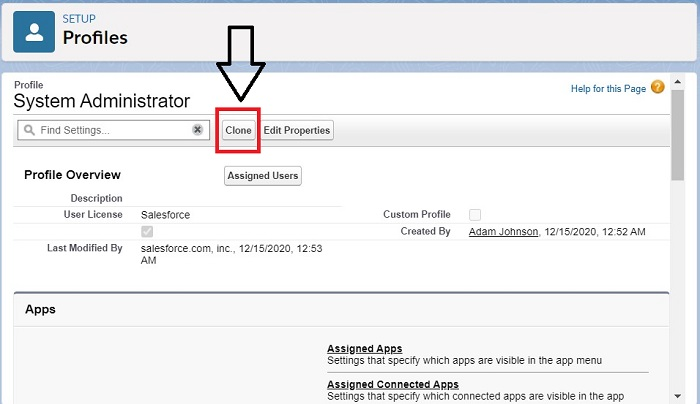 Data Security- Creation of a custom profile by cloning a profile in Salesforce