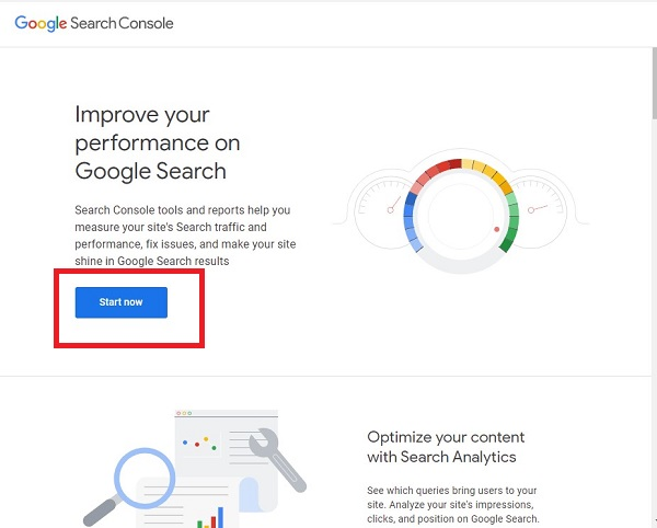 Submit sitemap on Google search console