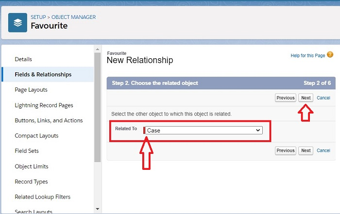 Enter Relate to field to create Master-Detail Relationship