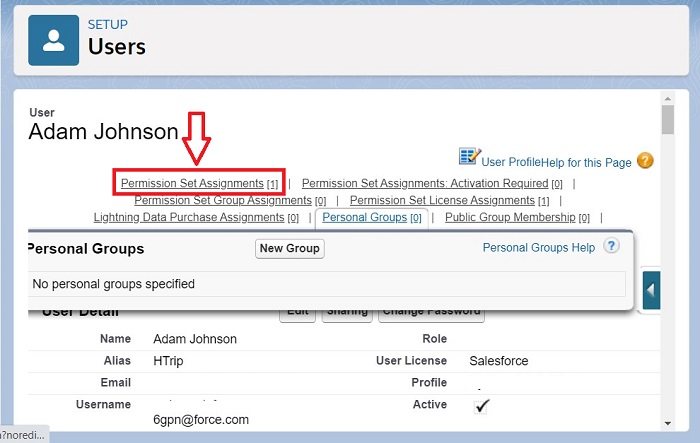 Assign Permission Sets to a single user