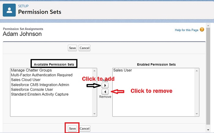 Assign Permission Sets a to a single user