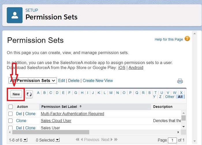 Create Permission sets in Salesforce