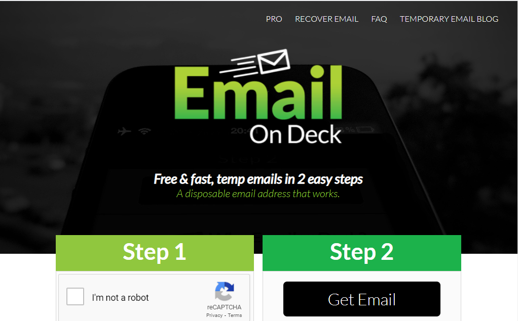 Email On Deck: Create Temporary or Disposable email address