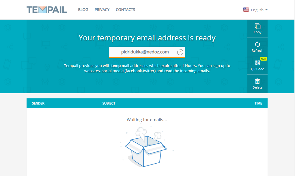 Tempail: Create Temporary email address